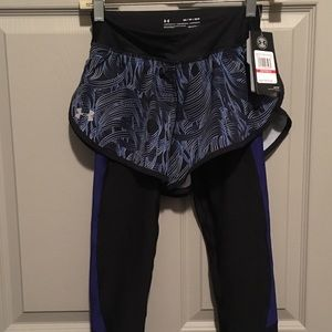 Under Armour running shorts with attached leggings